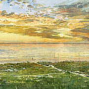Sunset On Hobie Cat Beach, Siesta Key, Access 8 Art Print