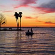Sunset On Lake Dora At Mount Dora Florida Art Print