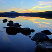 Sunset On Lake Harris 2 Art Print