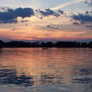 Sunset On Lake Mattoon Art Print