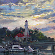 Sunset On Lake Shore Mississauga Art Print