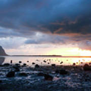 Sunset On Le Morne Art Print