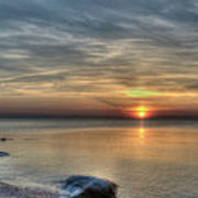 Sunset On Long Island Sound Art Print