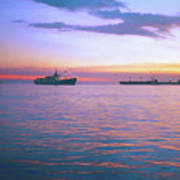 Sunset On Manila Bay Art Print