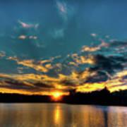 Sunset On Nicks Lake Art Print