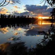 Sunset On Polly Lake Art Print