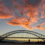 Sunset On Sydney Harbor Art Print