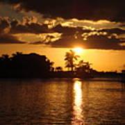 Sunset On The Bay Art Print