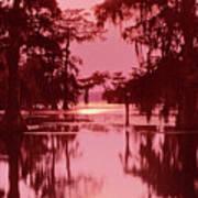 Sunset On The Bayou Atchafalaya Basin Louisiana Art Print