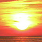 Sunset On The Great Lakes Art Print