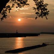 Sunset On The Mississippi Art Print