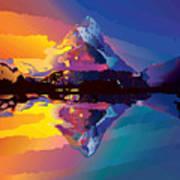 Sunset On The Mountains Art Print