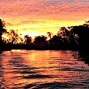Sunset On The Murray River Art Print