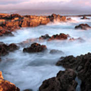 Sunset On The Rugged Coastline Of Kerry Ireland Art Print