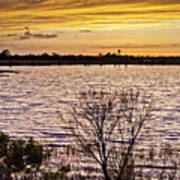 Sunset On The Wetlands Art Print