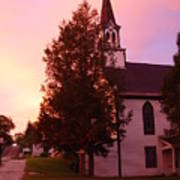 Sunset On The Whitefield Methodist Church Art Print