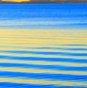 Sunset On Waves Art Print