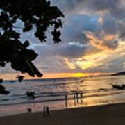 Sunset Over Ao Nang Beach Thailand Art Print