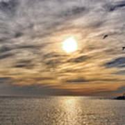 Sunset Over Bay Art Print