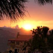 Sunset Over Bcharre, Lebanon Art Print
