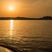 Sunset Over Calvi In Balagne Region Of Corsica Art Print
