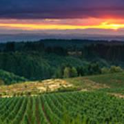 Sunset Over Central Oregon 4 Art Print