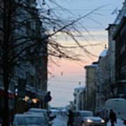 Sunset Over Helsinki Art Print