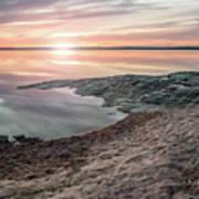 Sunset Over Lake Vanern, Sweden Art Print