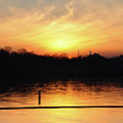 Sunset Over Lake Art Print