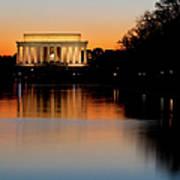 Sunset Over Lincoln Memorial Art Print