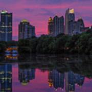 Sunset Over Midtown Art Print by Doug Sturgess