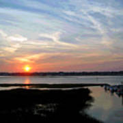 Sunset Over Murrells Inlet II Art Print