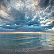 Sunset Over Naples Beach Art Print