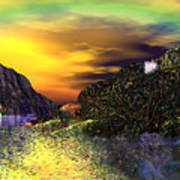 Sunset Over Paradise Art Print