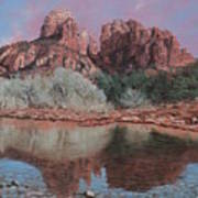 Sunset Over Red Rocks Of Sedona  Art Print