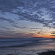 Sunset Over Rye New Hampshire Coastline Art Print