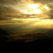 Sunset Over Sandia Mountain Art Print