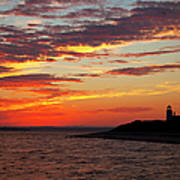 Sunset Over Sandy Neck Lighthouse Art Print