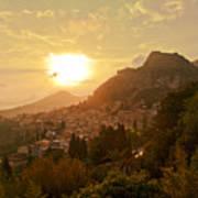 Sunset Over Sicily Art Print