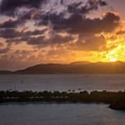 Sunset Over St. Thomas Art Print