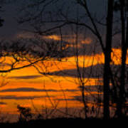 sunset over Suwanee 2010 Art Print