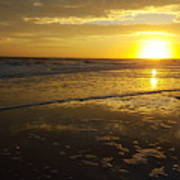 Sunset Over The Beach Art Print