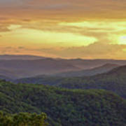 Sunset Over The Bluestone Gorge - Pipestem State Park Art Print