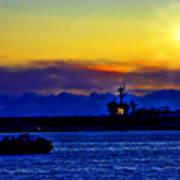 Sunset Over The Carl Vinson Art Print