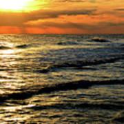 Sunset Over The Gulf Art Print