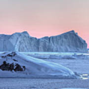 sunset over the Icefjord - Greenland Art Print