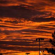 Sunset Over The Judean Hills Art Print