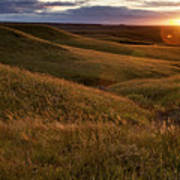 Sunset Over The Kansas Prairie Print by Jim Richardson