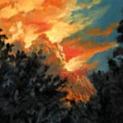 Sunset Over The Little Wekiva Art Print