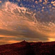 Sunset Over The Moab Rim 2 Art Print